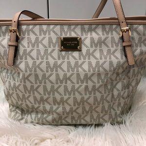 Michael Kors White Monogram Diaper Bag